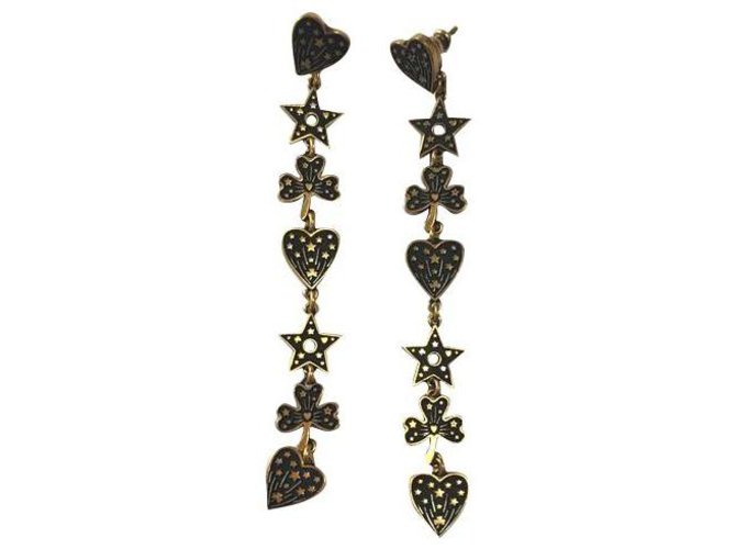 Christian Dior C Earrings.Dior Neuves Earrings Gold-plated Bronze ref.178168