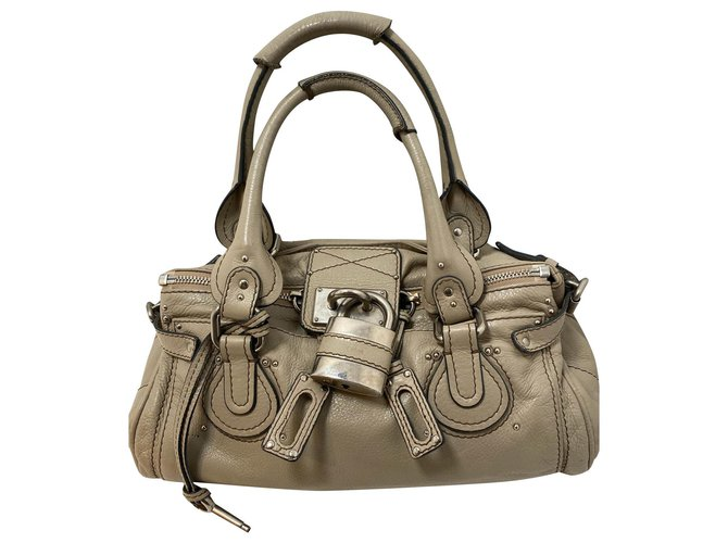 Chloé CHLOÉ PADDINGTON Handbags Leather Grey ref.178171