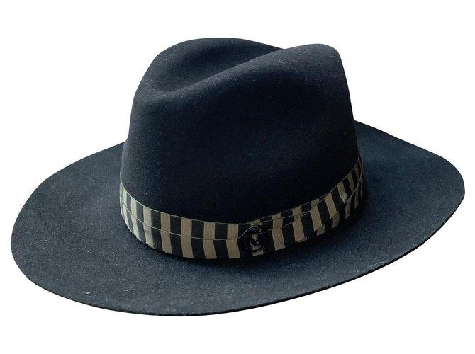 Maison Michel Henrietta Hats Wool Black,Khaki ref.178465