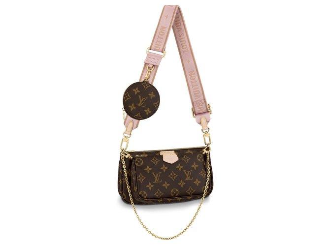 Louis Vuitton Multi pochette acessoires Handbags Cloth Brown ref.178505