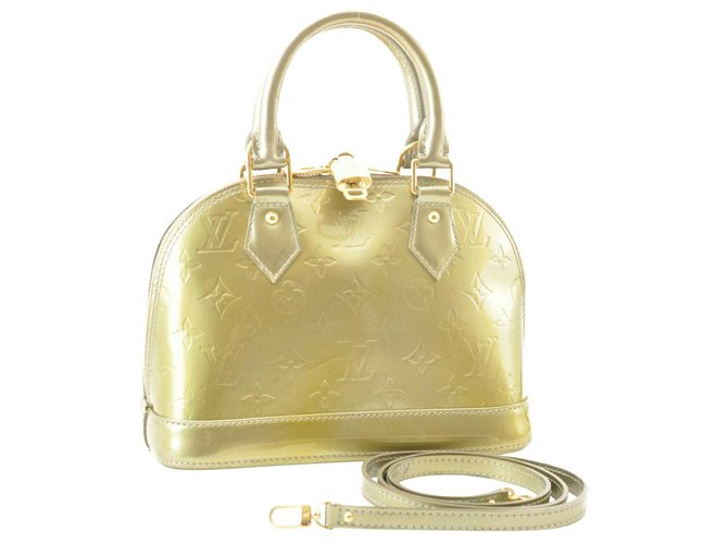 Louis Vuitton Louis Vuitton Vernis Alma BB Handbags Patent leather Golden ref.178869