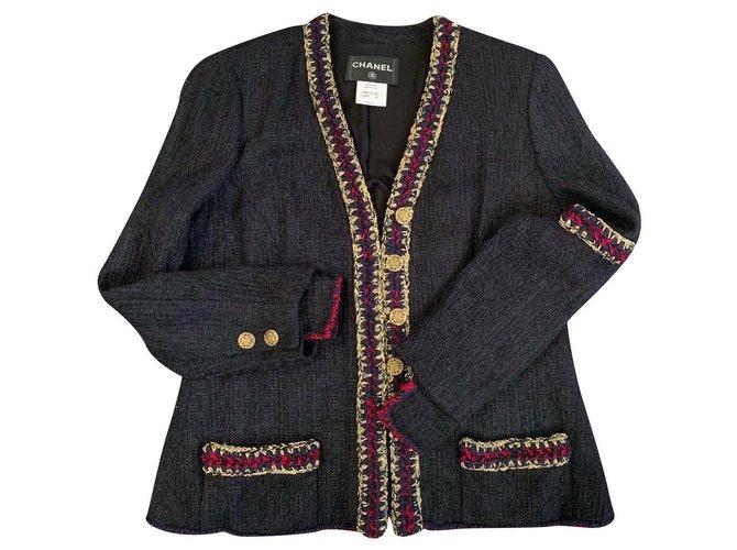 Chanel Shanghai black tweed jacket Jackets Tweed Black ref.179308