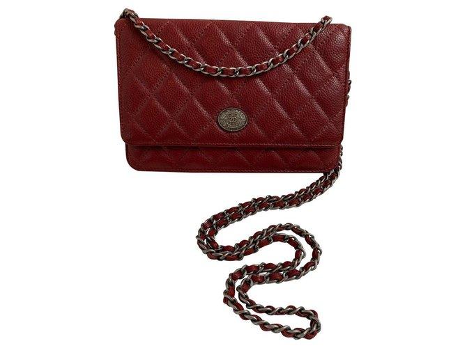Sacs à main Chanel Chanel Cuir Bordeaux ref.179452