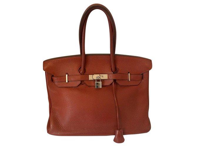 Hermès Hermes Handbags Leather Red ref.179988
