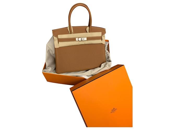 Sacs à main Hermès Birkin 30 togo gold Veau façon poulain Beige ref.179992