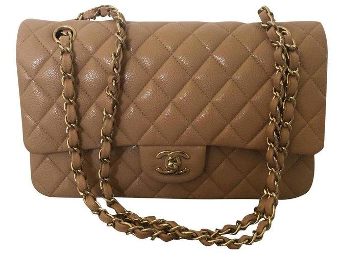 Sacs à main Chanel Chanel timeless medium beige Veau façon poulain Beige ref.179993