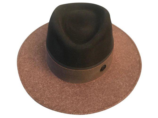 Maison Michel hat Hats Deerskin Brown ref.180008
