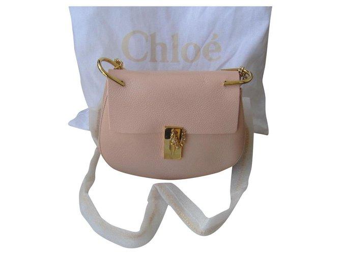 Chloé drew Handbags Lambskin Pink ref.180103