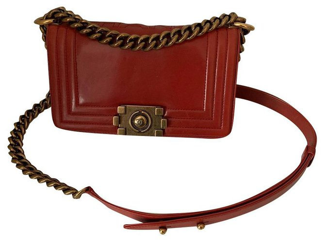 Chanel Chanel Handbags Leather Red ref.180128
