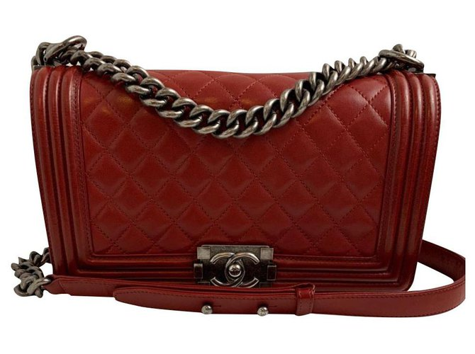 Chanel Chanel Handbags Leather Red ref.180129