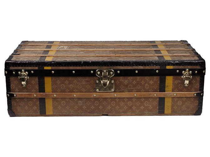 Louis Vuitton Superb Louis Vuitton Cabin trunk in monogram woven canvas, CIRCA 1900 Misc Cloth,Wood Brown ref.180145
