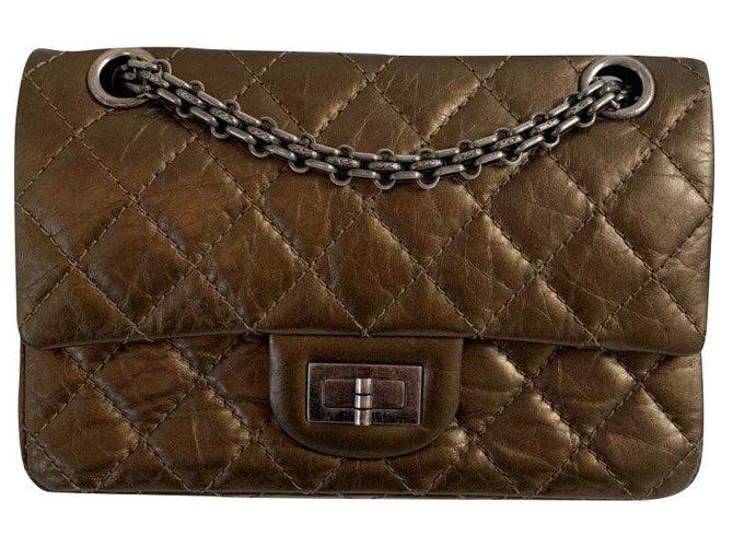 Sacs à main Chanel Chanel Cuir Bronze ref.180231