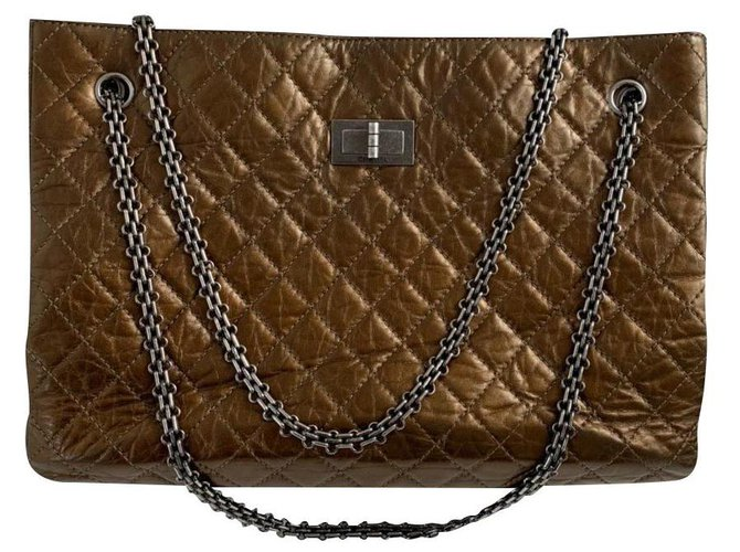 Sacs à main Chanel Chanel Cuir Bronze ref.180519