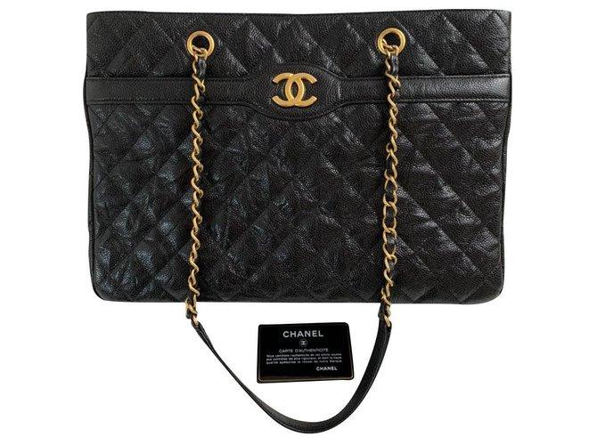Sacs à main Chanel Chanel Cuir Noir ref.180521