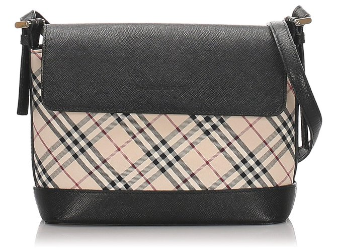 Burberry Burberry Brown Nova Check Canvas Shoulder Bag Handbags Leather,Cloth,Pony-style calfskin,Cloth Brown,Black,Beige ref.180589