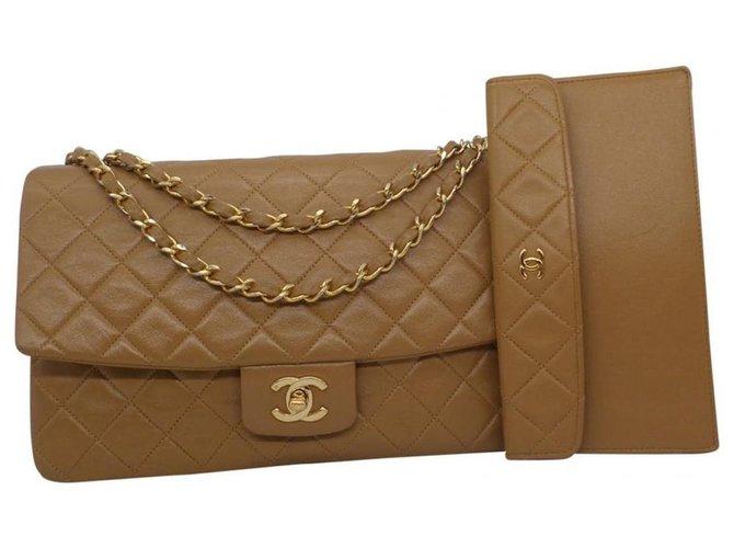 Chanel Handbags Handbags Leather Caramel ref.180606
