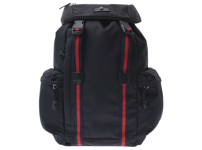 Gucci Gucci Nylon backpack Misc Synthetic Black ref.180755