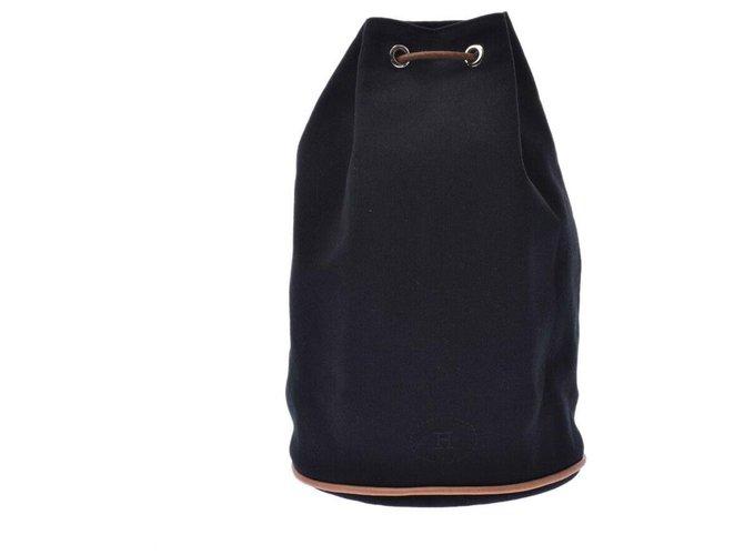 Hermès Hermès POSITION MIMILL Handbags Cotton Black ref.180985