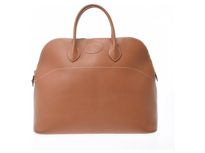 Hermès Hermes Bolide 47 Handbags Leather Brown ref.180990