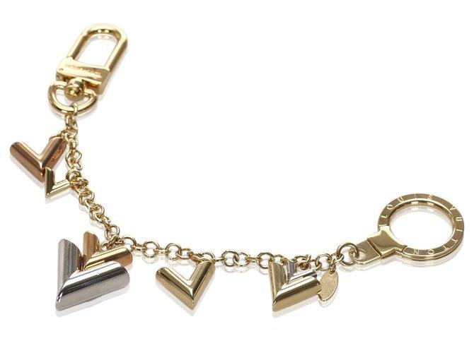 Bijoux de sac Louis Vuitton Louis Vuitton Gold Jingle V Chain Bag Charm Autre,Métal Argenté,Doré ref.181467
