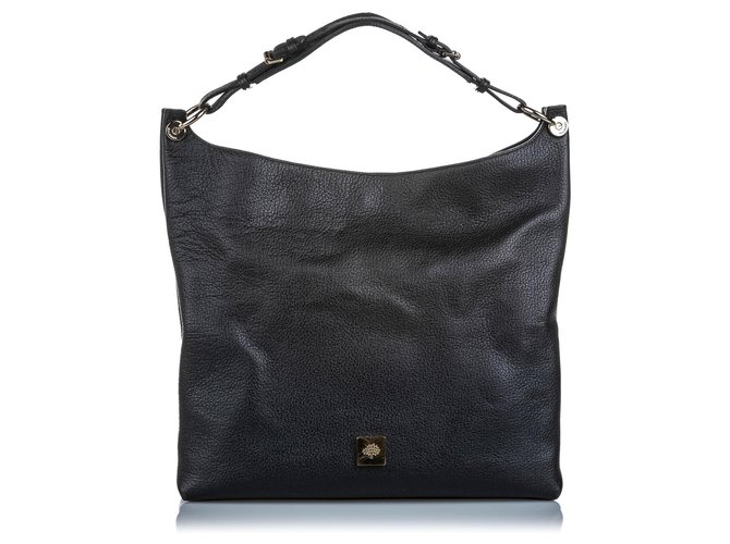 Mulberry Mulberry Black Leather Freya Shoulder Bag Handbags Leather,Pony-style calfskin Black ref.181760
