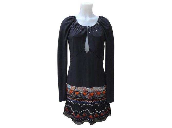 Chloé Dresses Dresses Silk Black,Multiple colors ref.181779