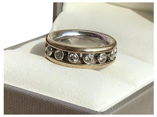 Bagues Dior Volage Diamants Or blanc Argenté ref.181853