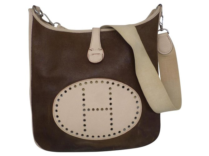 Hermès Handbags Handbags Cloth Brown ref.182181