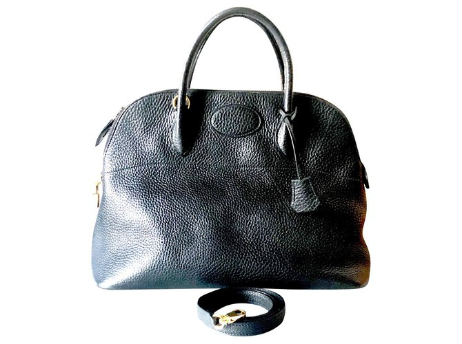 Hermès Bolide Handbags Leather Black ref.182858