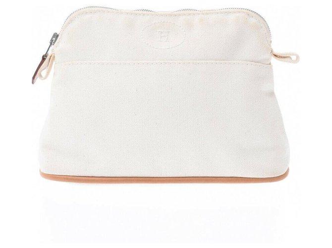 Hermès Hermes Bolide Travel bag Cotton White ref.182861