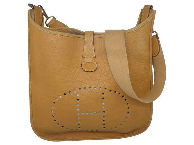 Hermès Handbags Handbags Leather Brown ref.183071