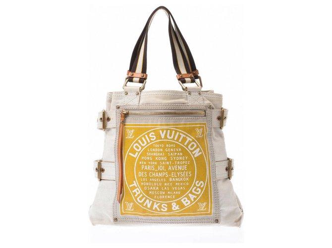 Décoration divers Louis Vuitton Sac à main Louis Vuitton Autre Jaune ref.183123