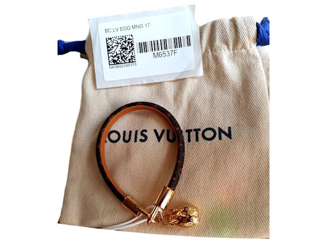 Bracelets Louis Vuitton bracelet LV Egg Cuir Marron ref.183274