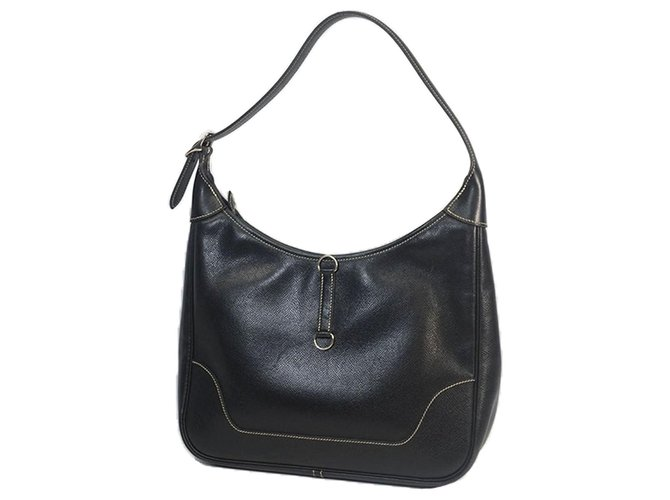 Hermès Hermes Black Courchevel Trim II 31 Handbags Leather,Pony-style calfskin Black ref.183531