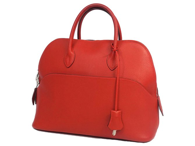Hermès Hermes Red Bolide 1923 30 Handbags Leather,Pony-style calfskin Red ref.183542