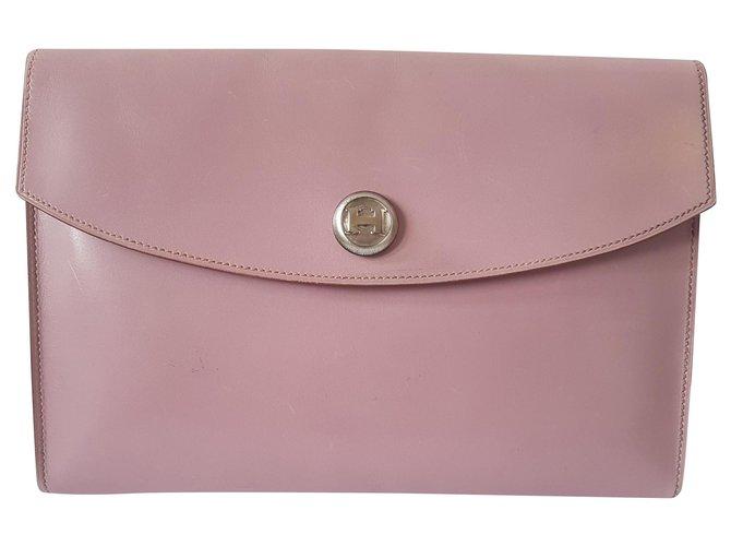 Hermès Clutch bags Clutch bags Leather Lavender ref.184060