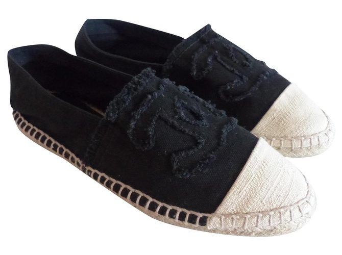Chanel Espadrilles Espadrilles Denim Black ref.184223