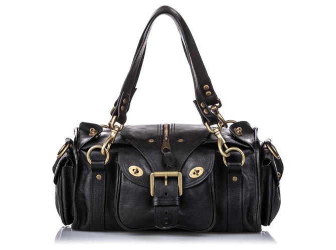 Mulberry Mulberry Black Leather Shoulder Bag Handbags Leather,Pony-style calfskin Black ref.184506