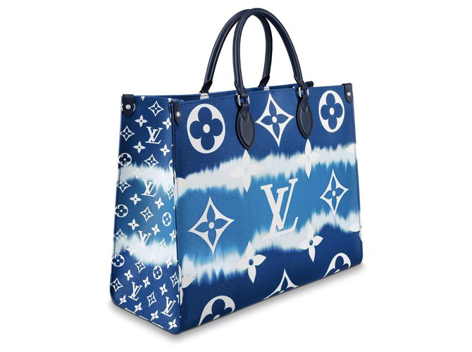 Louis Vuitton Onthego bag new Handbags Leather Blue ref.184612