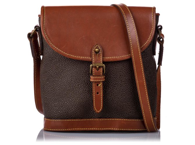 Mulberry Mulberry Brown Leather Crossbody Bag Handbags Leather,Pony-style calfskin Brown,Dark brown ref.184706