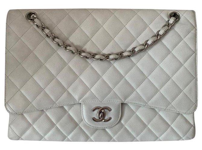 Sacs à main Chanel Chanel Cuir Blanc ref.184787