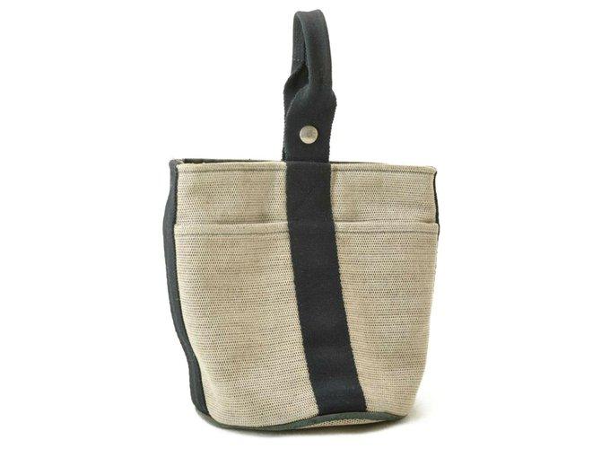 Hermès Hermès Saxo PM Handbags Cloth Grey ref.184819