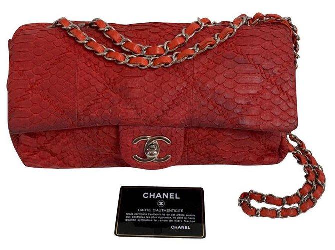 Chanel Chanel Handbags Python Red ref.185182