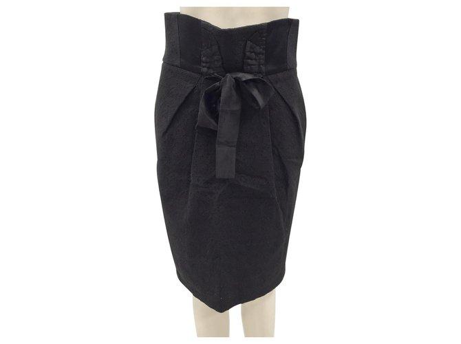 Antonio Marras Black cotton skirt  ref.185302