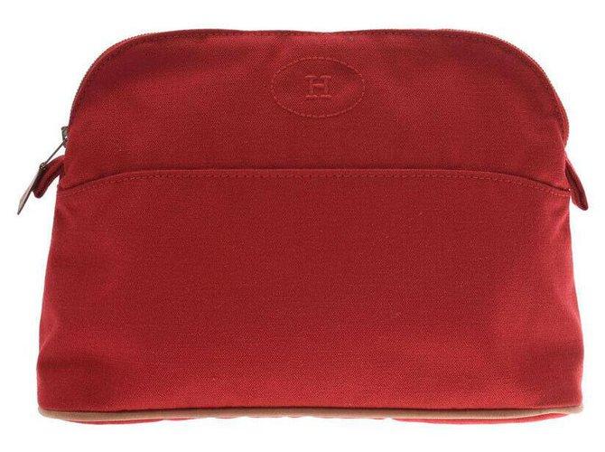 Hermès Hermès Bored Pouch 25 Goods Clutch bags Cloth Red ref.185595