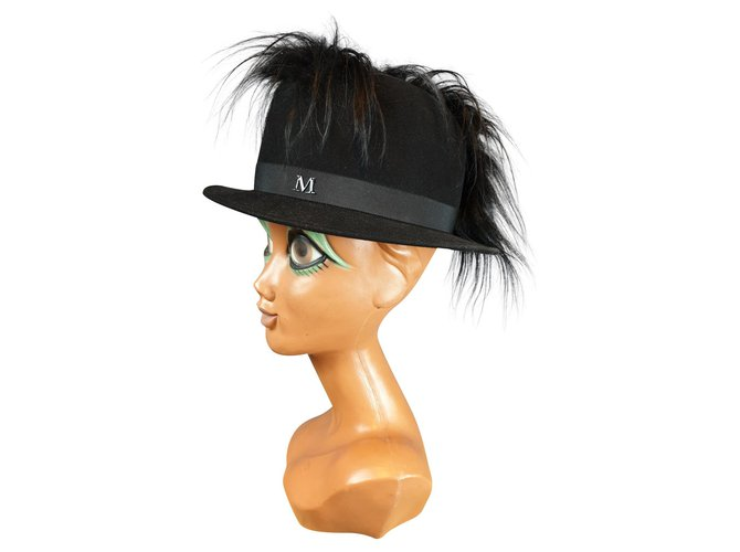 Maison Michel MICHEL HOUSE FELT Hats Wool Black ref.185910