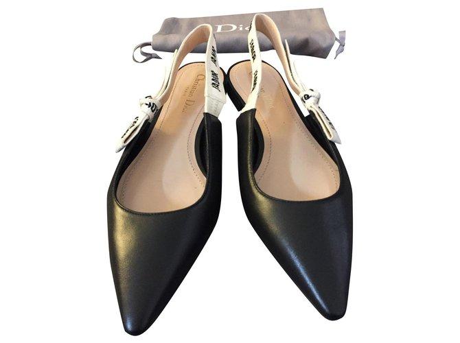 Christian Dior J' Adior Ballet flats Leather Black ref.186341