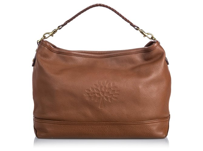 Mulberry Mulberry Brown Leather Effie Satchel Handbags Leather,Pony-style calfskin Brown ref.186731