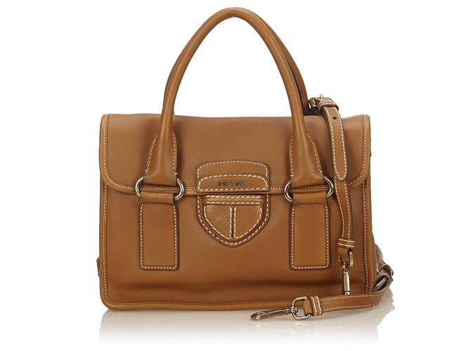 Prada Brown Leather Pattina