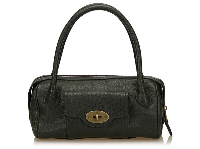 Mulberry Mulberry Green Leather Handbag Handbags Leather,Other Green,Dark green ref.187571